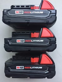Milwaukee New Brand: Battery XC 1.5 M18 Red Lithium Milwaukee Batería Nueva XC 1.5 18 Volt Los Angeles, 91343