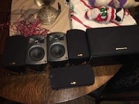 6 smaller home theatre or stereo speakers very loud