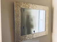 Light weight, light gold mirror with textured frame Jacksonville, 32256