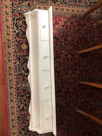 White shelf with 4 drawers  Arlington