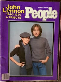 John Lennon People Magazine December 22, 1980 Lebanon