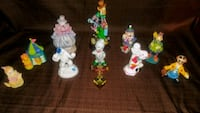 10  Old And Newer Clown Lot Chesapeake