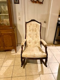 Antique rocking chair and chair