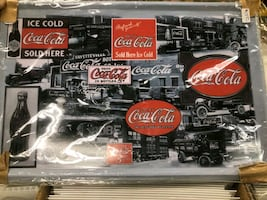 Coca Cola Tin Tray small size $15