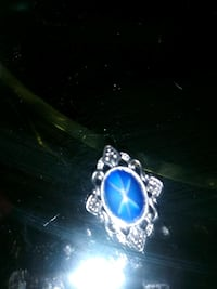 silver and blue gemstone ring Albuquerque, 87108