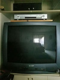 black CRT TV with remote Gaithersburg, 20877