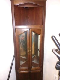 brown wooden framed glass display cabinet Middle Island, 11953