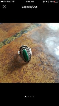 Native American Malachite Ring West Haven, 06516