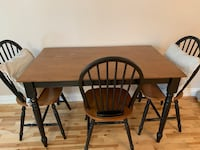 Wooden table with 3 chairs  Vaughan, L4L 1H8