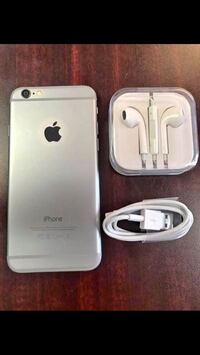 Space gray iphone 6 with earpods and charger Adelphi, 20783