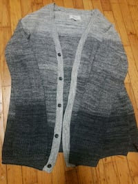 Grey Frank and oak cardigan  Vancouver, V5P 2C5
