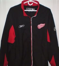 Detroit Red Wings NHL Reebok Full Zip Jacket Size Large  London