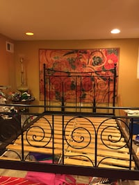 Iron wrought IKEA queen size bed, slats included Washington, 20010