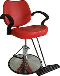 Red Classic Hydraulic Styling Chair
