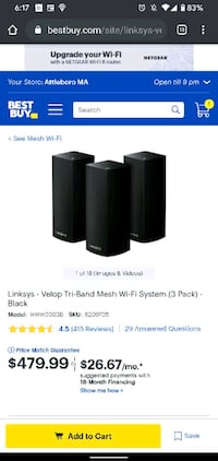 Linksys Velop tri band 3 pack with box North Providence, 02911