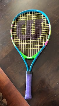 blue and yellow tennis racket Hawthorne