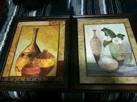 two brown framed painting of vases Sylacauga, 35150