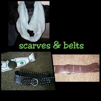 scarves and belts collage