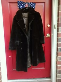 Black plush fake fur coat $50 Fairfax, 22032