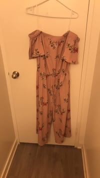 Women's pink and black floral jumpsuit 715 km