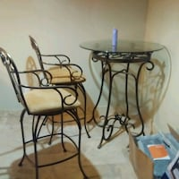 Antique barista dining room table matching chairs Dallas, 75231