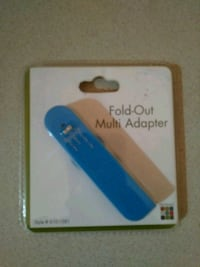 Fold-out Multi Adapter USB/Charger (Blue) Lubbock, 79413