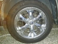 CHROME RIM 6 spoke from chevy Tahoe with 6 Months new Cooper TIRE Size 285 50R20 ROHNERTPARK