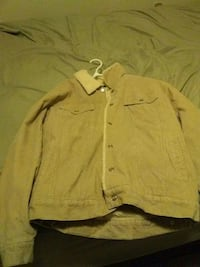 brown denim button-up jacket London, N6A 2T7