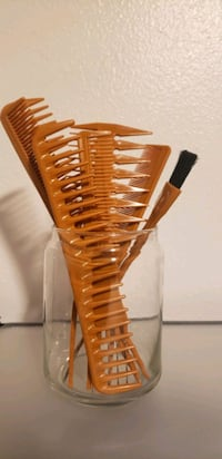 Hair Styling Comb 7 Pcs with FREE Comb Jar