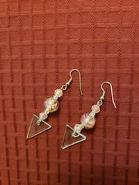 PINK CRYSTAL EARRINGS  Lynnfield, 01940