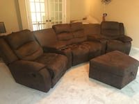 Brown suede 3-seat sofa and loveseat Powder Springs, 30127