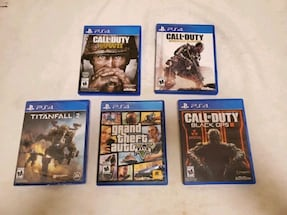 5x PS4 Games... Call of Duty, GTA 5, Titianfalls 2 Sealed