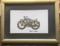 Very collectible watch part motorcycle collage Signed certificate