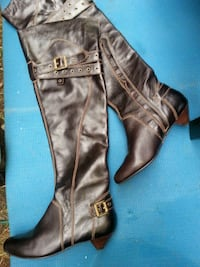 Naughty monkey genuine leather thigh high boots Spokane Valley, 99206