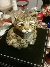 brown ceramic cat figurine Hamilton