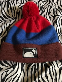 red and blue knit cap Ladera Heights