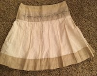 [ Betsy & Babs ] Beige & Tan floral skirt size 16 [4 pic.] Vale, 28168