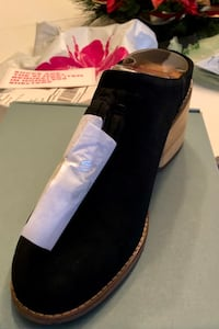 Tom's Black Suede Mules-women's size 8 shoe Norristown, 19403