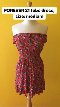 Forever 21 floral tube dress, size: medium Brampton, L6W 3P9