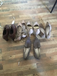 four pairs of brown leather heeled sandals Oakland, 94607