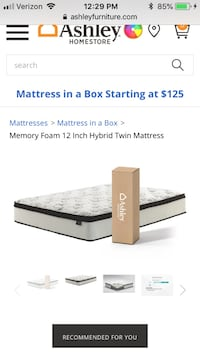 "BRAND NEW IN BOX & SEALED: Ashley Furniture Chime Queen Hybrid Mattress 12"" Arlington"