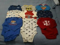 18-24mths Boys Long Sleeve Onesies