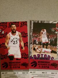 X2 Raptors tickets nov 20th wed  Vaughan, L4L 0G7