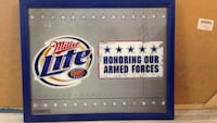 Miller Lite Man Cave Armed forces Mirror  limited Gulfport, 39503