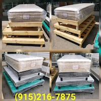 **Brand New Wooden Bed Frames** (All Sizes Vary On El Paso, 79915