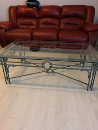 Metal frame coffe and end tables