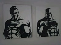 Batman and Superman acrylic hand painting Las Vegas, 89103