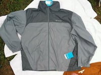 black and gray Adidas zip-up jacket Eugene, 97402