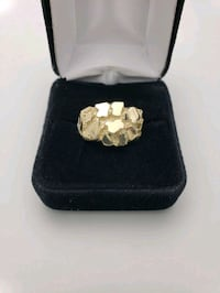 10K Yellow Gold Nugget Ring Size 10.5 Upland, 91786