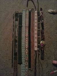 all kinds and sizes of women's belts  Afton
